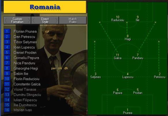 romania tactics vs yugoslavia