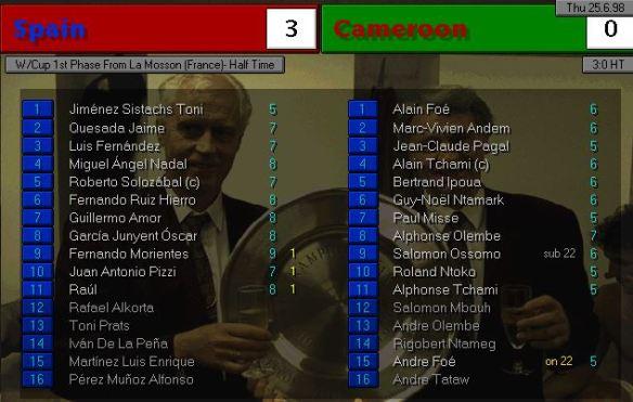 spain cameroon HT ratings