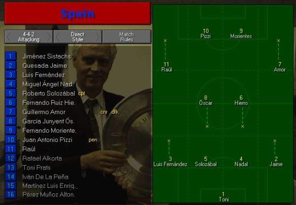 Spain tactics vs Cameroon