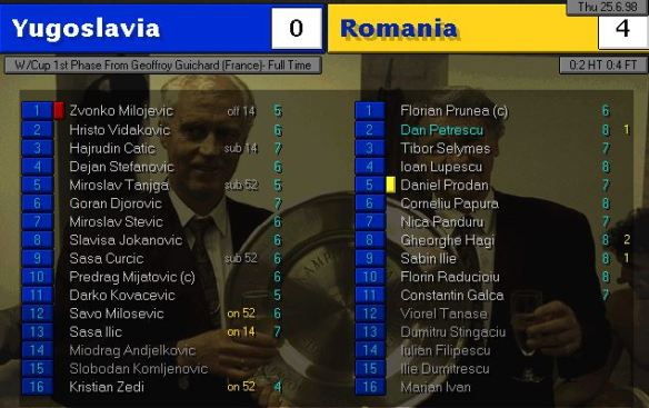 yugo 0 - 4 romania ratings