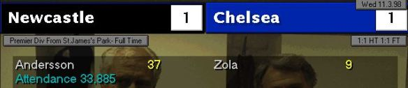 1-1 chelsea