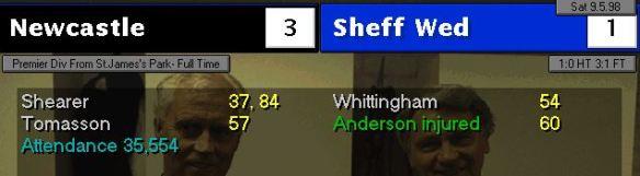 3-1 sheff wed
