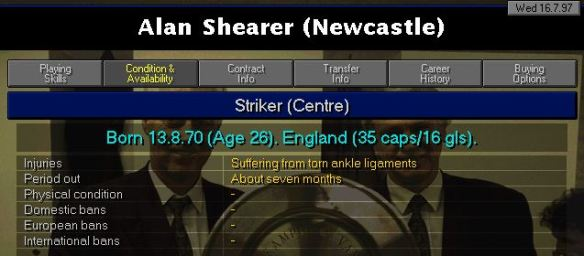 shearer injury