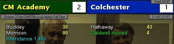2-1 Colchester