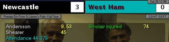 3-0 west ham