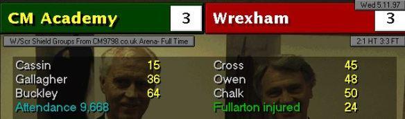 3-3 wrexham