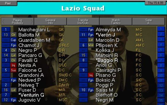 lazio squad