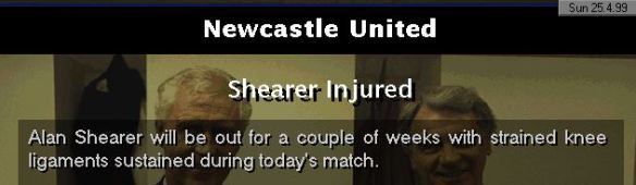 shearer injured again