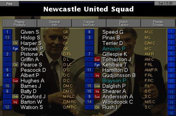 squad vs Chelsea