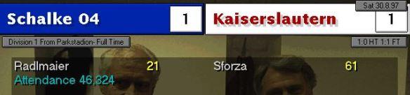 1-1 Schalke