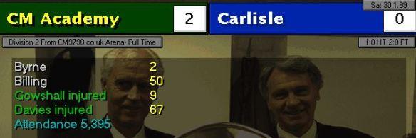 2-0 carlisle
