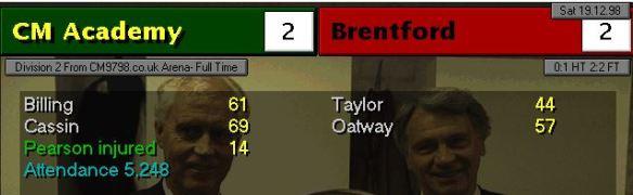 2-2 brentford