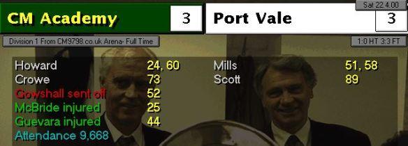 3-3 port vale