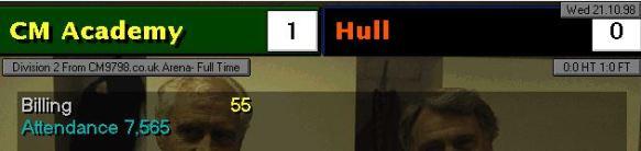 Hull 1-0