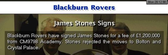 Stones to Blackburn