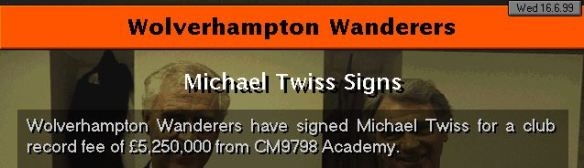 Twiss to wolves