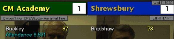 1-1 shrewsbury