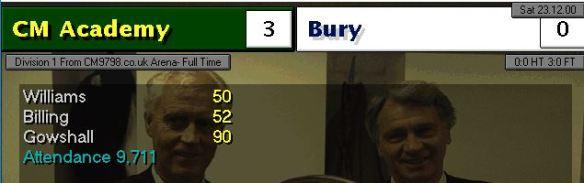 3-0 bury