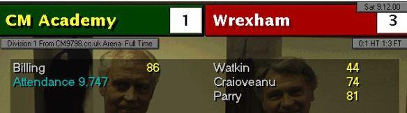 wrexham 1-3