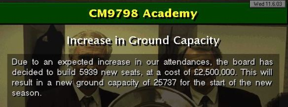 capacity increase