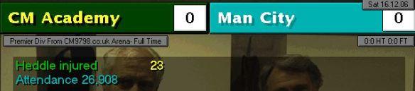0-0 man city