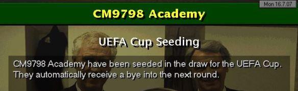 UEFA Cup seeding