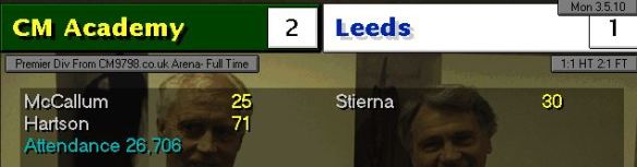 2-1 Leeds S13