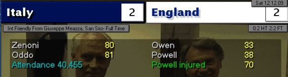 Powell first England goal