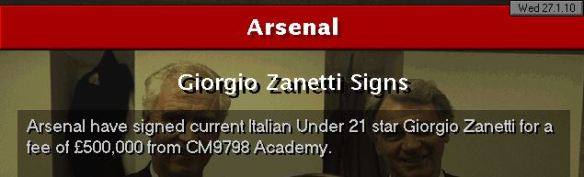 zanetti to arsenal