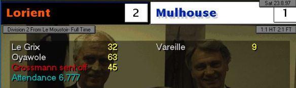 Lorient 2-1