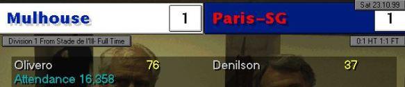 1-1 PSG