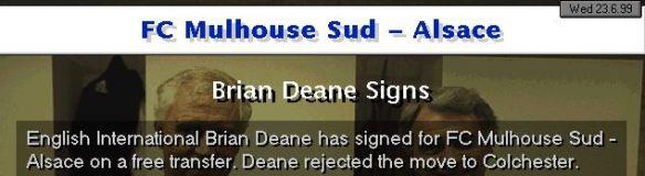 Brian Deane signs