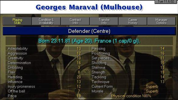 Maraval stats