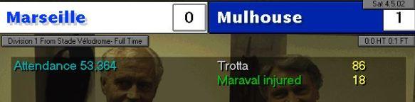 Marseille 0 - 1