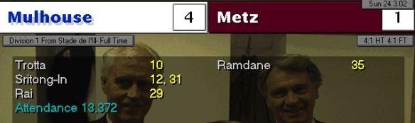 Metz 4-1 home