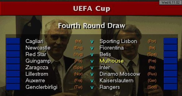 uefa cup 4th round draw