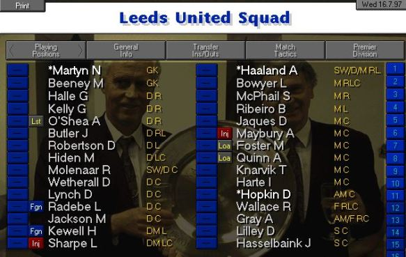 Leeds squad