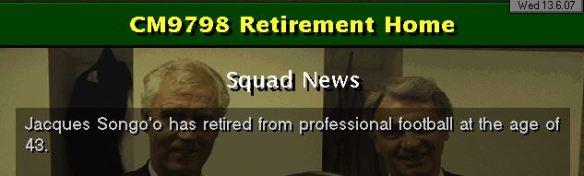 Songoo retires